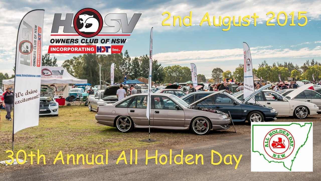 HSV Owners Club of NSW @ All Holden Day 2015 - YouTube