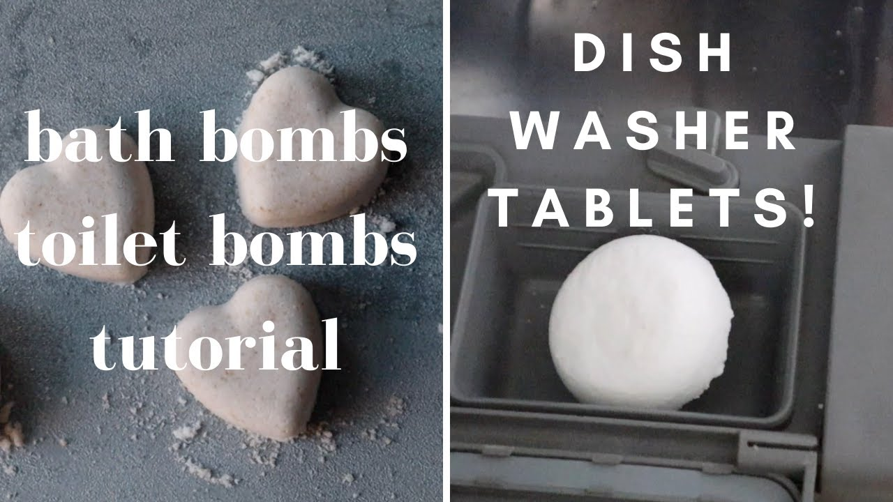 How To Reduce Waste With Bath Bombs Dish Washer Tablets Toilet Bombs 3 Simple Recipes Youtube