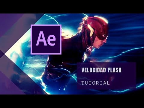 Justice League Flash Running After Effects Tutorial | Supervelocidad de Flash