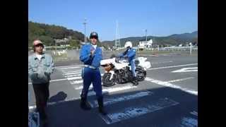 2014,10,19 蒲郡自動車学校での乗車の時のバイクの特性【白バイ バイク ライスク 安全講習 自動車学校】