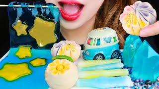 ASMR SHEET JELLY, RICE CAKES, NIK-L-NIPS, GALAXY CANDY 먹방 EATING SOUNDS MUKBANG NO TALKING