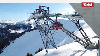 The tri-cable gondola lift in kitzbühel connects hahnenkamm and jochberg at dizzying heights. discover ski resort: https://www.tyrol.com/things...