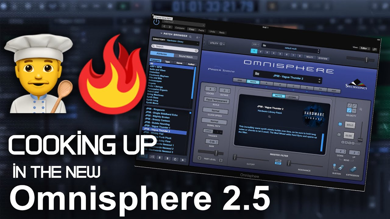🍳Cooking Up Melodies in the new Omnisphere 2 5