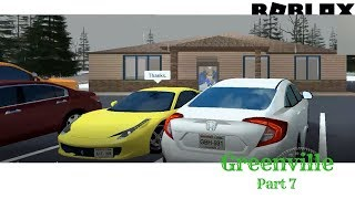 Roblox Greenville Part 8: Rolling around town in my Honda Civic