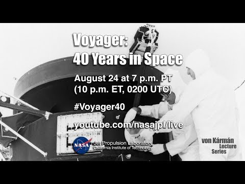 Voyager: 40 Years in Space (public talk)
