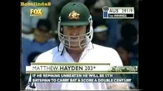 Matthew Hayden 203 vs India 3rd test 2001 Chennai