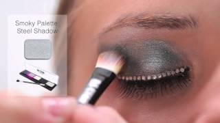 BA STAR Smoky Eye Shadow Palette with Holo Silver Glitter & Red Glitter Lips Thumbnail