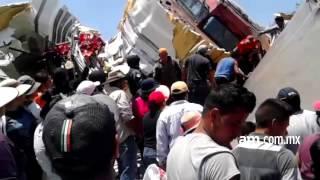 Roban cargamento de leche tras descarrilamiento de tren en Pénjamo