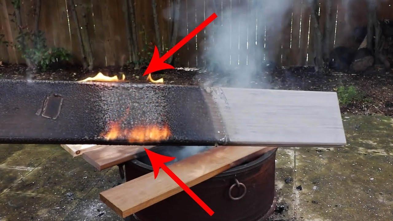 Will Ipe Burn? How about Azek? Deck Fire Testing in my Backyard