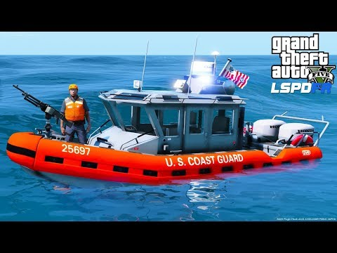 GTA 5 LSPDFR Coastal Callouts Update - New Coast Guard Boats With