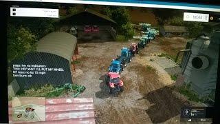 Farming simulator 2015 multiplayer in Daggerwin server EP8 BIGGEST TRACTOR RUN IN HIS  SERVER