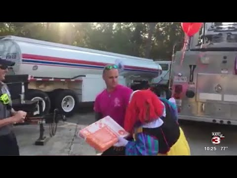 Mark - Get a scary clown to deliver donuts for Halloween