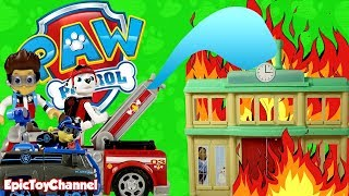 Paw Patrol Nickelodeon Mission Paw 🔥 Fire Rescue Chickaletta Trapped and the Paw Patrol Saves Day