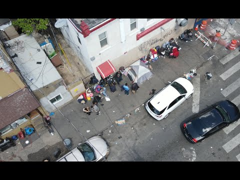 PHILADELPHIA MOST DANGEROUS AREA / POLICE DRONE FOOTAGE