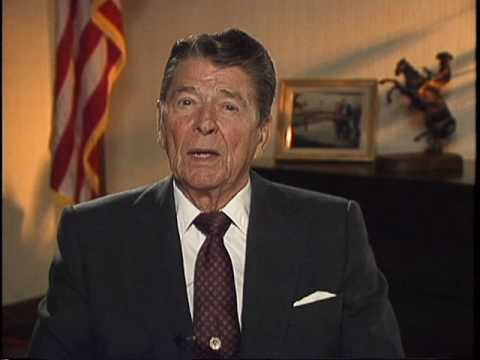 President Reagan Addresses College Conference