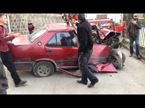 Trabzon Soğuksu Mahallesi Kaza Yapan araç