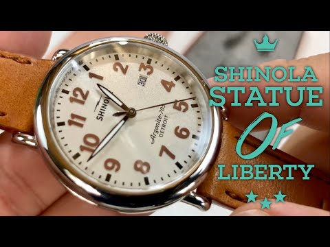 The Statue of Liberty Shinola Runwell Watch Review from the Great Americans Series