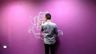 Leeds Federated Digital Hub - Wall Doodle