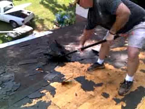 How To Remove Shingles From Your Roof Youtube