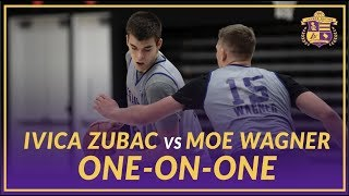 Lakers Practice: Ivica Zubac and Moe Wagner Play One-on-One After practice