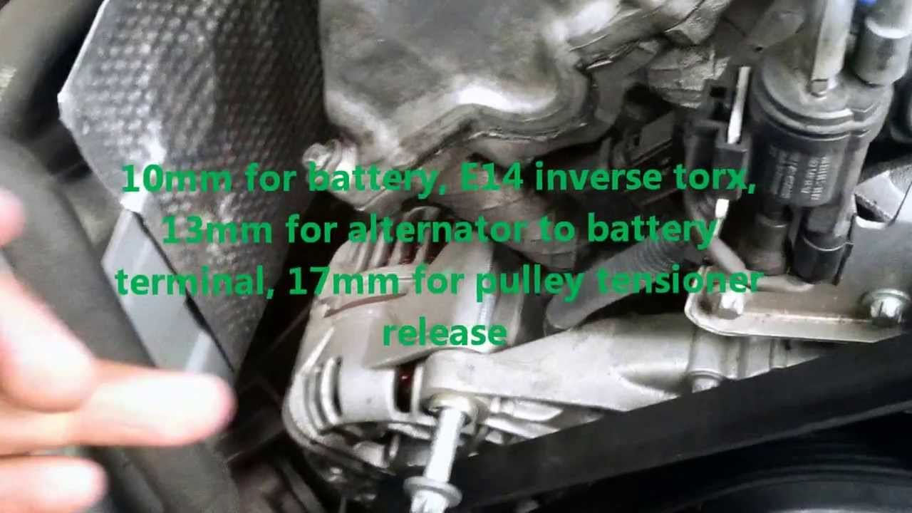 2002 Mercedes C240 Alternator Removal Youtube