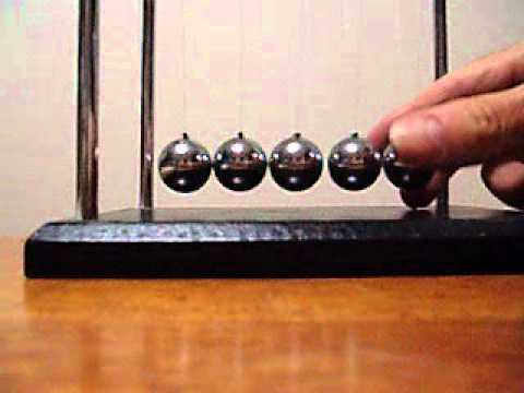 066 physics Balls Toy -  TheUnderlying Reality of Instantaneous Collision Transfer of Motion