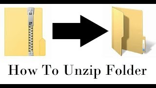 Unzip Files Without Winzip Windows 10
