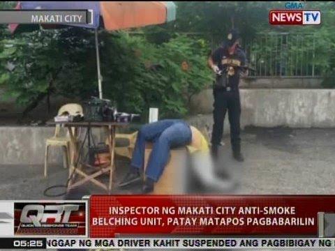 QRT: Inspector ng Makati City Anti-Smoke Belching Unit, patay matapos pagbabarilin