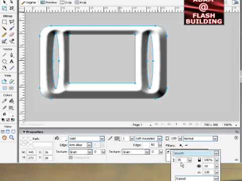 3D Bevel effect in Adobe Fireworks CS3