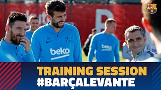 Final session before our chance to clinch the league title against Levante