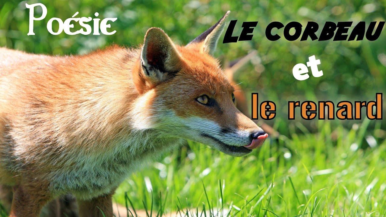 French Poem Fable Le Corbeau Et Le Renard By Jean De La Fontaine