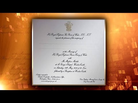 First Look at Meghan Markle and Prince Harry's Wedding Invitation
