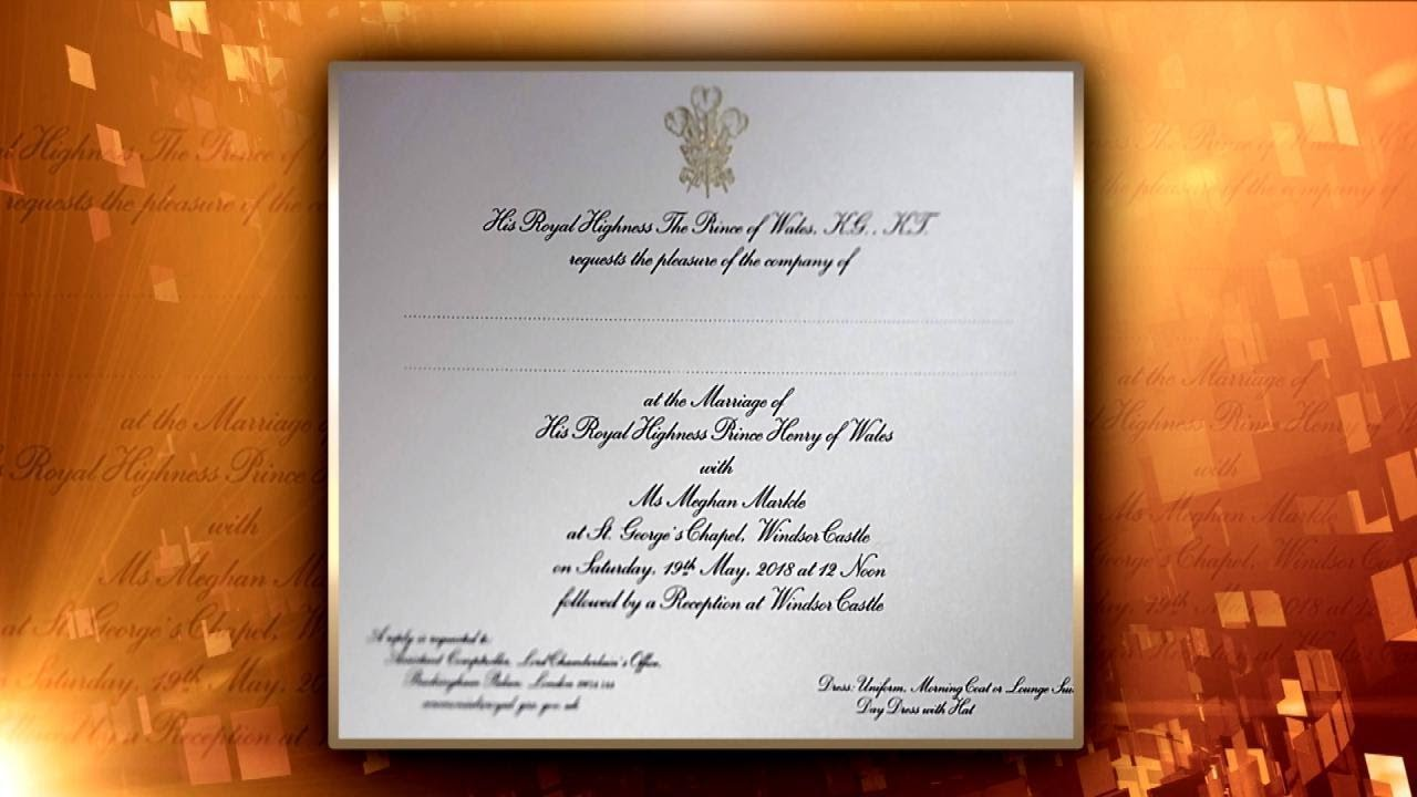 first look at meghan markle and prince harry s wedding invitation youtube first look at meghan markle and prince harry s wedding invitation
