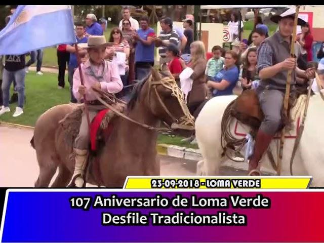 Actos 107 Aniversario Loma Verde   Desfile Tradicionalista