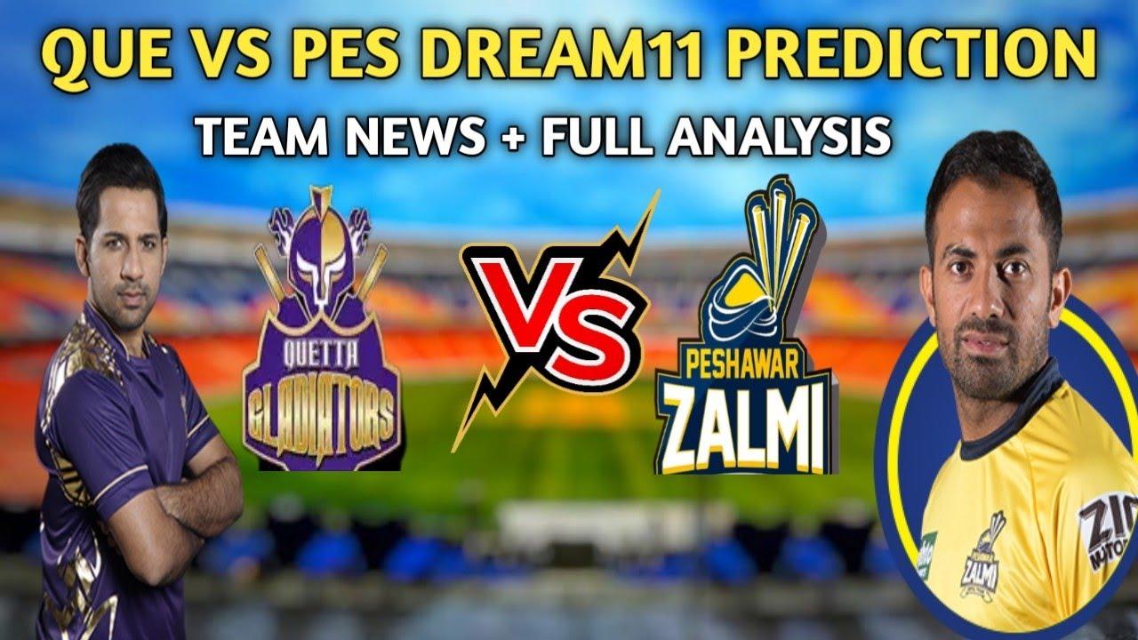 QUE VS PES DREAM11 PREDICTION | QUE VS PES PSL 2021 | QUE VS PES DREAM11 TEAM | QUE VS PES