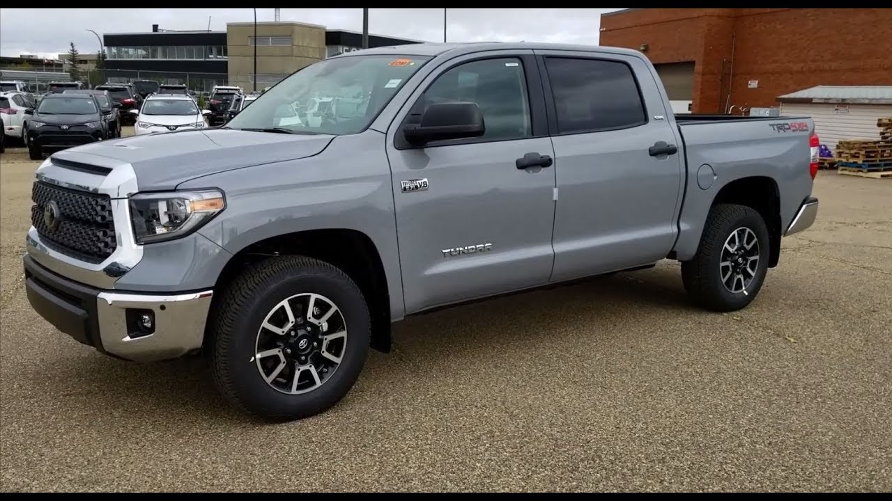 2018 toyota off road. plain 2018 2018 toyota tundra trd off road crewmax in cement grey 01h5 walk through  drive throughout toyota off road o