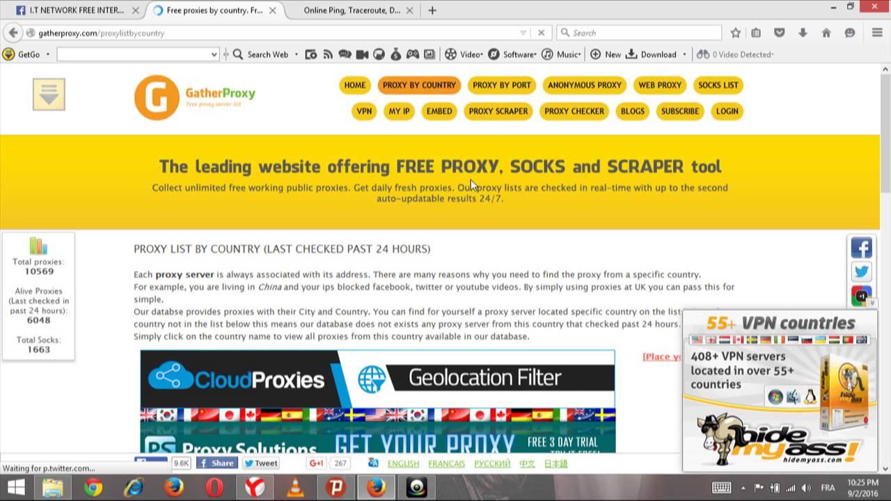 Hidemyass proxy finder