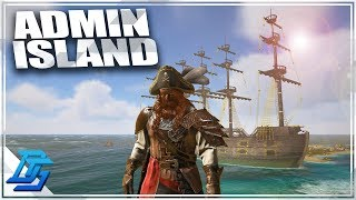NITRADO ISLAND, FIRST TIME BUILDING BASE! - Atlas Gameplay Part 7