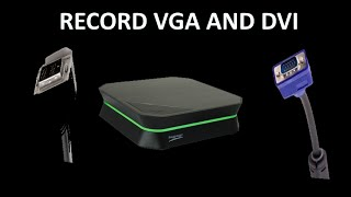 How to Record VGA and DVI Connections With an HD PVR 2