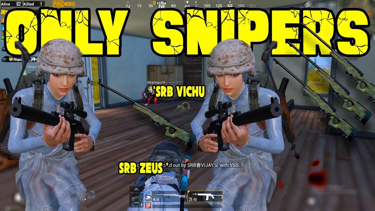 ரெண்டு FLAREuuu SRB Vs SRB - Only Snipers Challenge || 31 Kills In Pubg Mobile