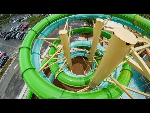Cypress Springs at Gaylord Palms - Green Tamiami Twister | High-Speed Waterslide Onride POV