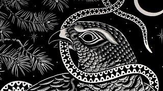 'Pine Tree' - large lino cut print by Emils Salmins