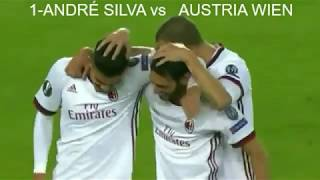 André Silva all 9 goal with milan