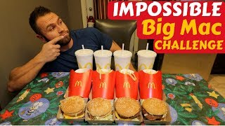 Impossible Big Mac Challenge   First Attempt   Epic Cheat Day   Man Vs Food