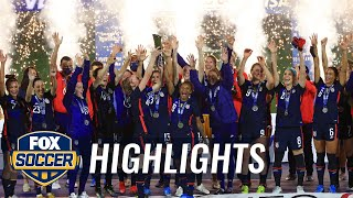 USWNT wins 2nd straight SheBelieves Cup with blowout of Argentina | 2021 SheBelieves Cup Highlights