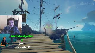 Teo streams Sea of Thieves