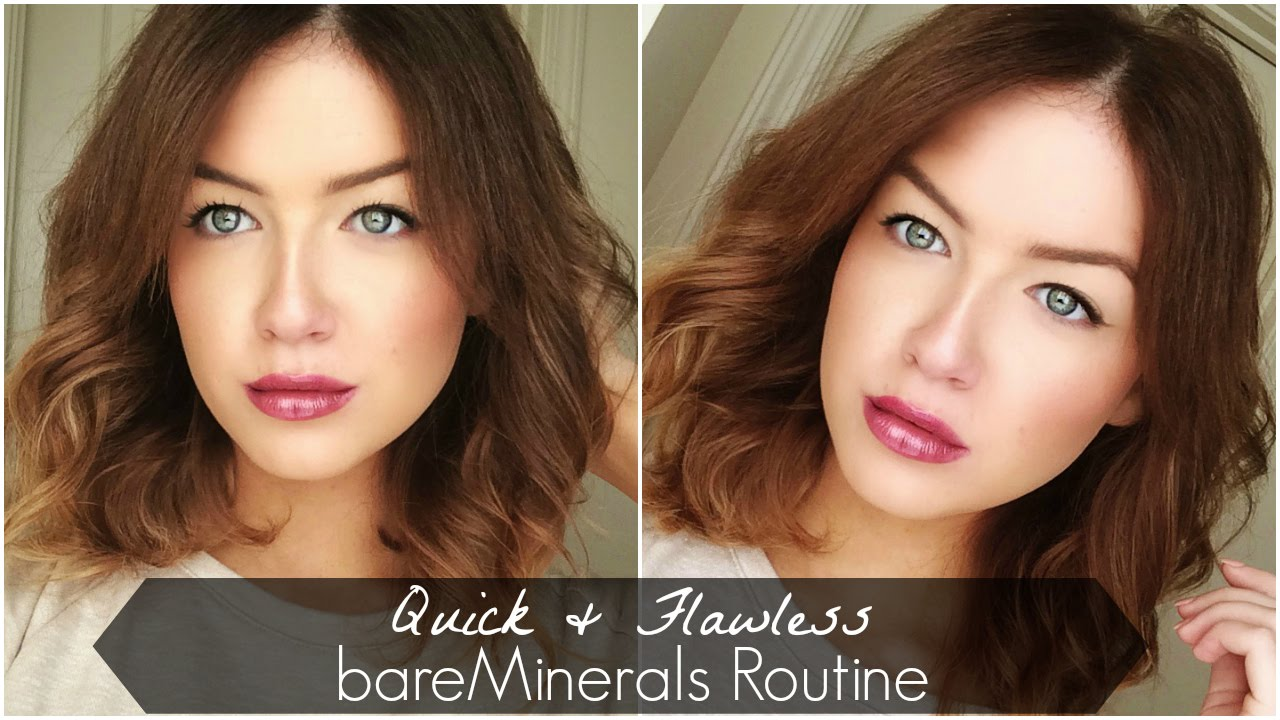 Quick & Flawless Bare Minerals Routine - YouTube