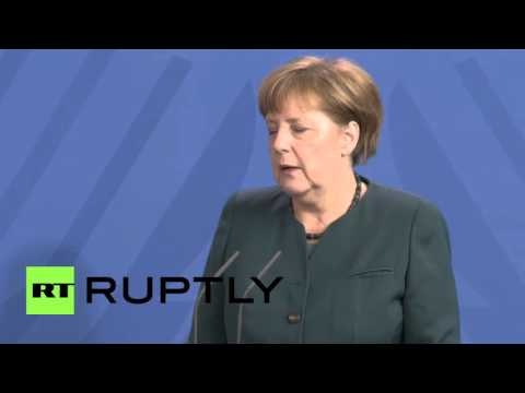 Germany: Merkel backs two-state solution during Abbas press conference