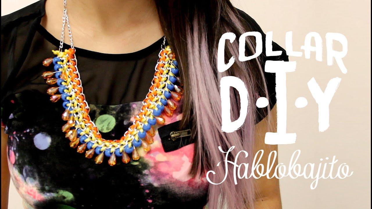 diy collar con cadena y listones accesorios de moda