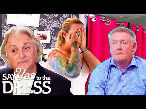 Dad SHOCKED To Discover Daughter Has FULL SLEEVE TATTOOS |  Say Yes To The Dress UK